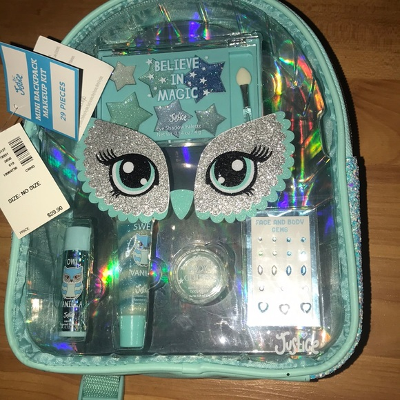 Justice NWT mini backpack makeup kit NWT